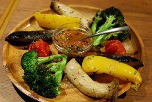 大塚の人気カレー店カッチャル バッチャル の野菜のグリル