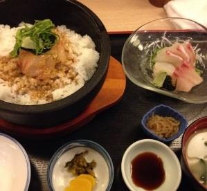新日本料理 越後家石焼鯛めし