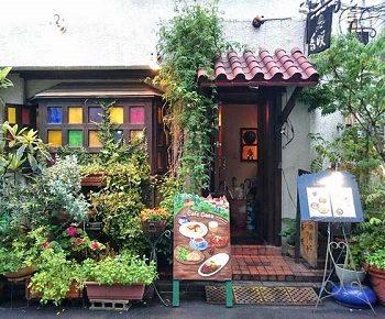 東京都渋谷区にある人気カフェ香咲の外観