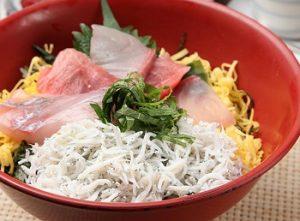 鎌倉の人気店和彩 八倉のしらす海鮮丼