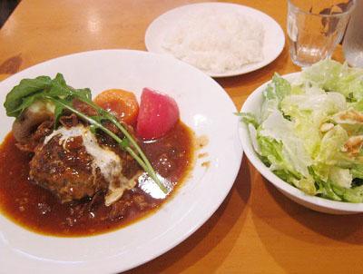 東京都豊島区JR池袋駅東口にある洋食屋キッチンOh!Wayのハンバーグ
