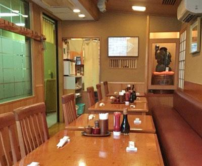 東京都台東区上野にあるとんかつ洋食店ぽん多本家の内観