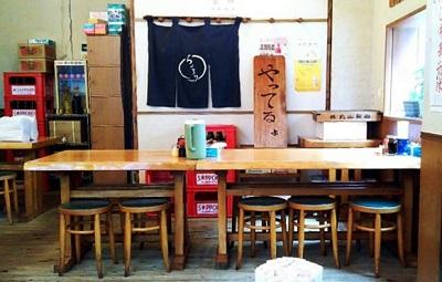 東京都渋谷区恵比寿駅近くにあるラーメン屋香湯ラーメンちょろり恵比寿店の店内