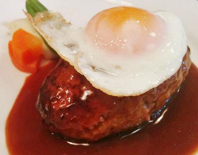 東京都港区麻布十番にある洋食屋エドヤEdoyaのハンバーグステーキ
