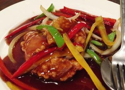 大阪市中央区心斎橋にある四川料理創作中華縁の酢豚