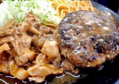 神保町駅近くにある定食屋キッチングランのハンバーグ