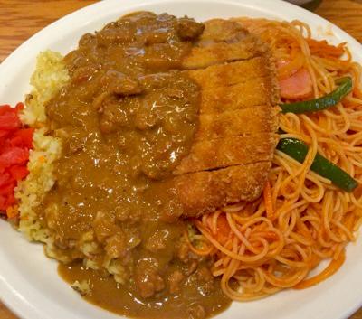 福岡渡辺通駅近くにあるカレー店HANAMARU厨房のトルコライス