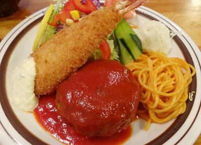 京都府北大路駅近くにある洋食店はせがわのAミックス