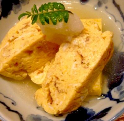 福岡県福岡市中央にある居酒屋池田商店のだし巻き卵