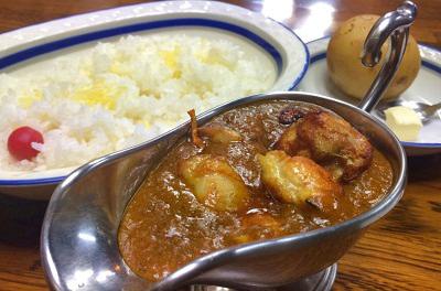 東京都板橋区西台駅近くにある欧風カレー店インディラのカレー