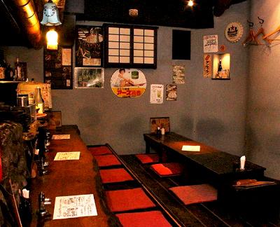 東京都渋谷区恵比寿にある居酒屋裏恵比寿自然生村の店内