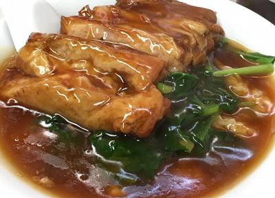 横浜中華街にある広東料理のお店海員閣カイインカクの豚バラ飯