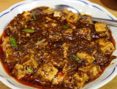 横浜市にある四川料理店華隆餐館 カリュウサンカンの陳麻婆豆腐