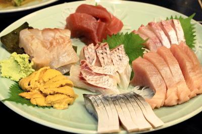 日本橋人形町駅近くにある魚介料理屋柳屋大衆料理川治の刺身