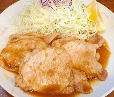 東京都千代田区にあるとんかつ店丸五の豚の生姜焼き