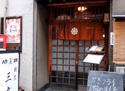 日本橋人形町駅近くにあるとんかつ屋三友