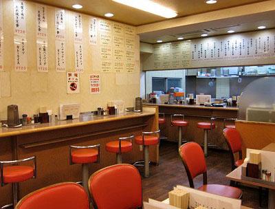 東京都豊島区西池袋にある食堂ランチハウスミトヤの店内
