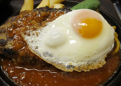 東京都豊島区西池袋にある食堂ランチハウスミトヤのハンバーグ