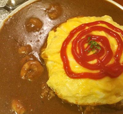 東京都品川区にある正油オムライスが人気の洋食店めぐろ三ツ星食堂オムエビカレー