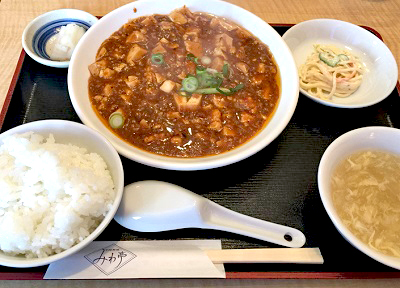 大阪市福島駅近くにある中華料理屋みわ亭の麻婆豆腐