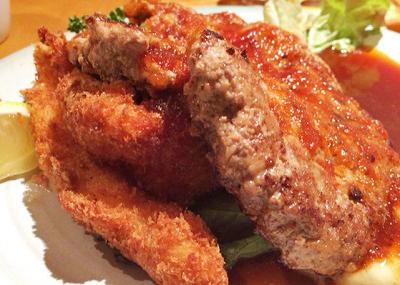 大阪市中央区にあるハンバーグが人気の洋食の店もなみのハンバーグ