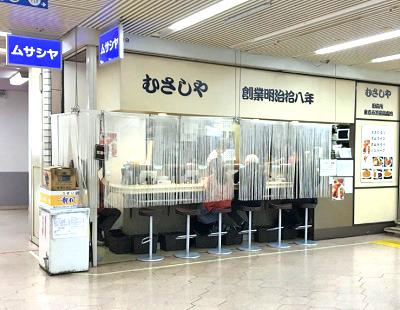 東京都港区新橋にある洋食屋むさしやの外観