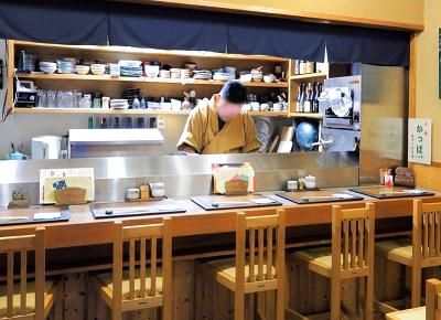 京都市三条駅近くにある居酒屋なな治の店内