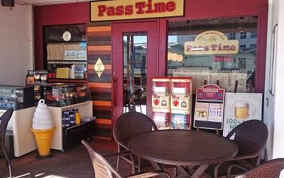 横浜洋光台駅近くにあるハンバーガーカフェパスタイム Pass timeの外観