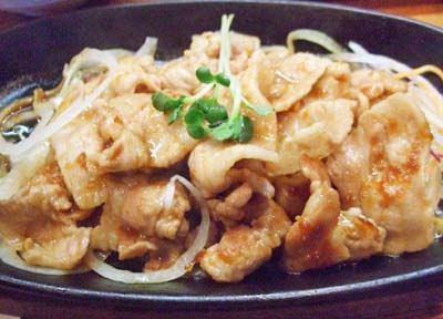 武蔵小山駅近くにあるとんかつ店さんきちの生姜焼き