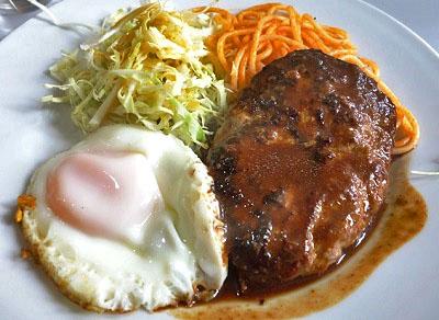 北千住駅近くにある人気洋食屋レストラン三幸のハンバーグ
