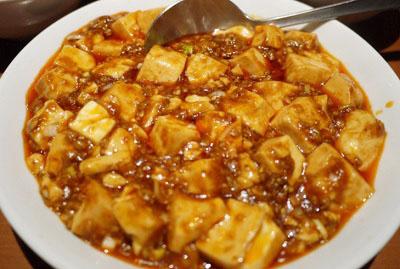 東京都港区芝大門にある上海料理新亜飯店芝大門店の麻婆豆腐