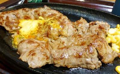 新橋駅近くにある洋食屋すてーき亭新橋店のステーキ