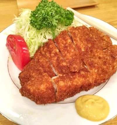 東京都目黒駅にある人気とんかつ屋とんき目黒店のロースかつ