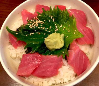 大阪市天満駅近くにある海鮮丼屋まぐろ食堂天満のとらやんの本まぐろ鉄火丼