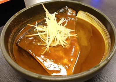 新橋駅近くにある海鮮居酒屋和楽のサバ味噌煮