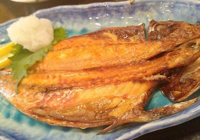 大門駅近くにある居酒屋常陸屋の焼魚
