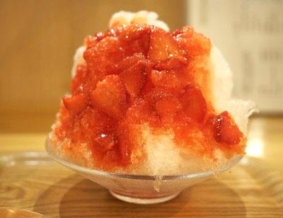 錦糸町駅近くにある北斎茶房のかき氷