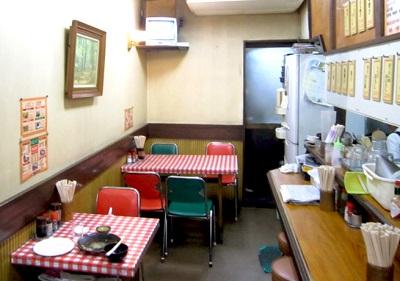 巣鴨駅近くにある洋食屋フクノヤの店内