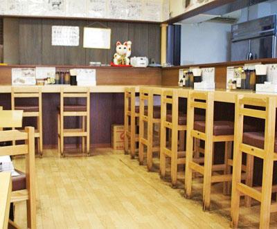 亀有駅近くにある食堂亀有メンチの店内