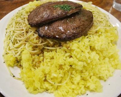 麹町駅近くにあるイタリアンラ・タベルナの牛肉の薄切りステーキ