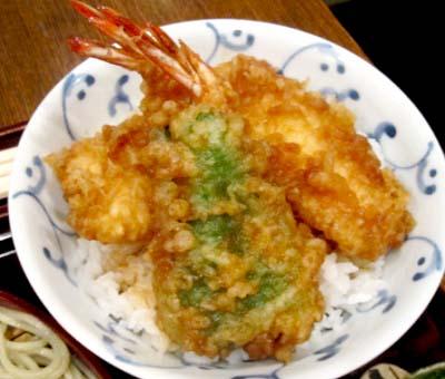 中村橋駅近くにあるそば屋玄蕎麦野中の天丼