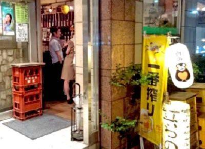 新橋駅近くにある居酒屋立ち飲み竜馬の外観