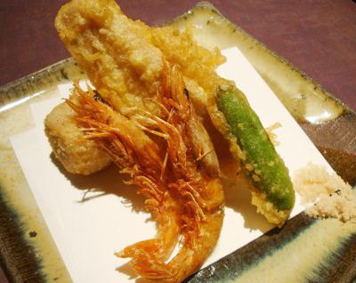 本町駅近くにある魚介料理屋瑳こうの天ぷら