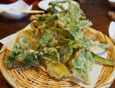 軽井沢にあるそば屋ささくらの天ぷら