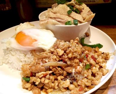 代々木駅近くにあるタイ料理アジアンスマイルのガパオライス