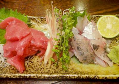 代々木駅近くにある魚介料理志乃ぶの刺身