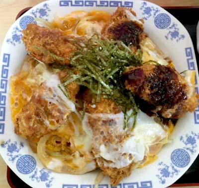新高円寺駅近くにある中華料理タカノのかつ煮