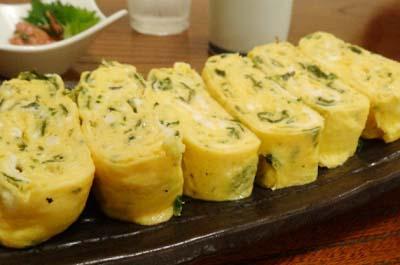 博多駅近くにある魚介料理太郎源の玉子焼き