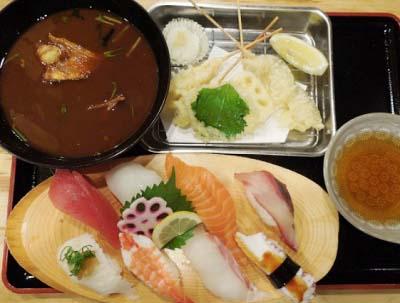 東三国駅近くにある海鮮料理屋魚輝水産新大阪店のにぎり寿司ランチ