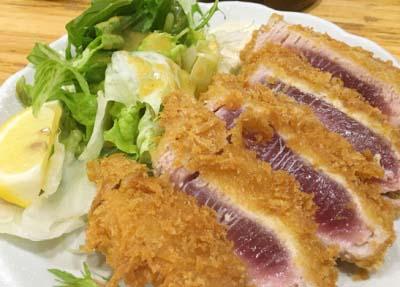 東三国駅近くにある海鮮料理屋魚輝水産新大阪店のカツ